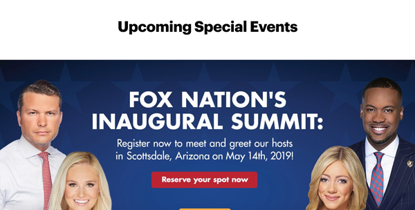 Fox Nation - upcoming events