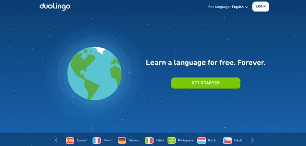 Duolingo home page