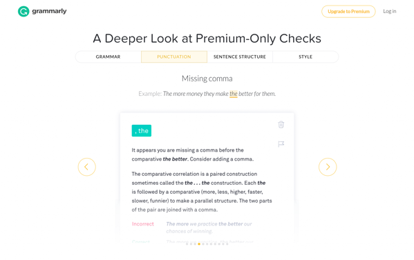 grammarly-pricing-02-premium-checks.png Grammarly's pricing page fails to link features to benefits. Grammarly's pricing page fails to link features to benefits.