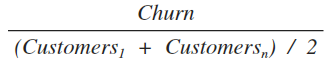 Adjusted Churn Formula