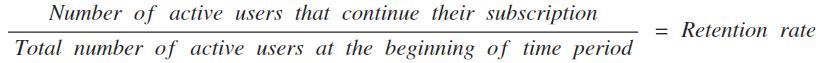 retention rate equation-2-1
