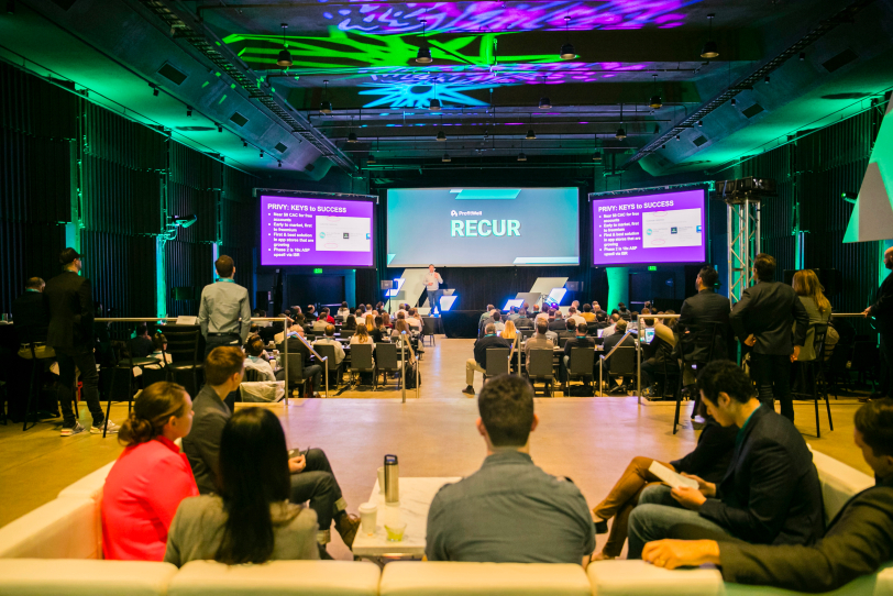 Recur 2018 Stage as attendees start to fill in seats